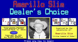 Amarillo Slim Dealer's Choice