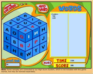 The Word Cube Game