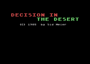 Decision in the Desert